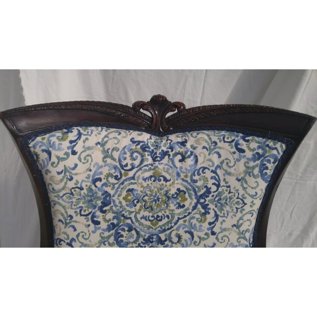 Transitional Antique Wooden Arm Chair - Image 6 of 11