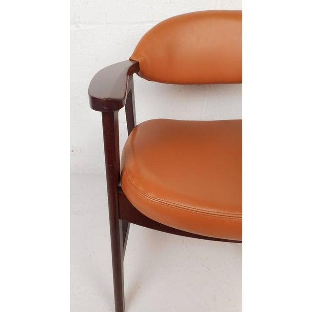 Mid-Century Modern Vinyl Dining Chairs - Set of 4 - Image 6 of 8