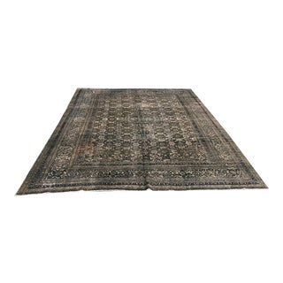 Antique Distressed Worn-Out Mahal Rug For Sale