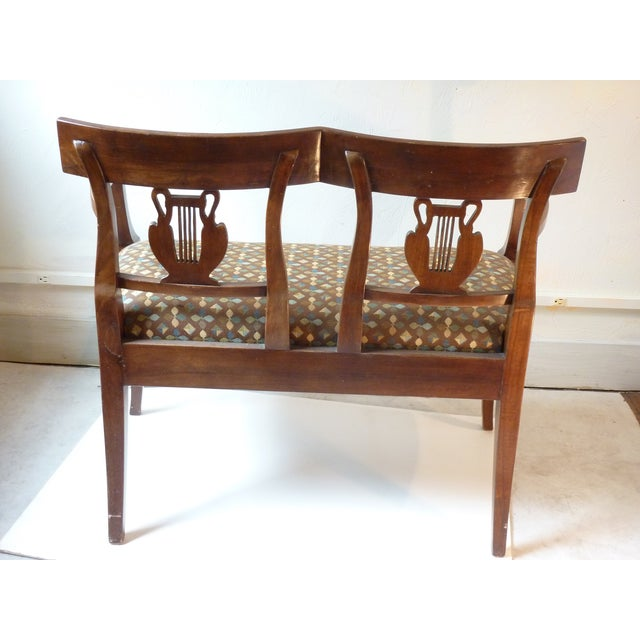French Country Walnut Settee For Sale - Image 5 of 5