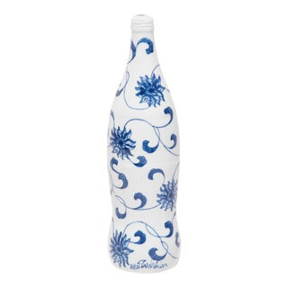 """Trailing Vines"" Blue and White Cola Bottle by Taikkun LI For Sale"