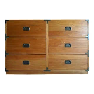 Boho Chic Natural Maple Campaign Dresser With Optional Hutch For Sale