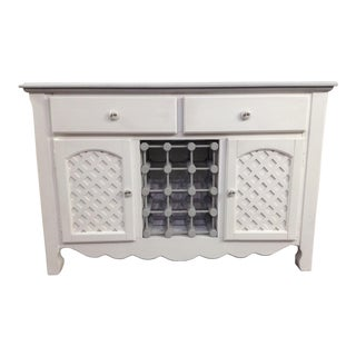 Cottage Hand Painted White Coastal Buffet