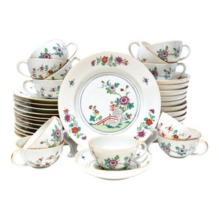 Antique Early 20th Century Edmé Samson Luncheon Service for 12 For Sale