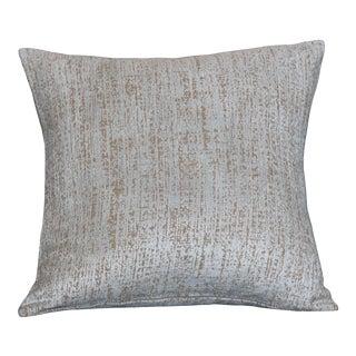 Contemporary Chenille Velvet Blue Pillow For Sale