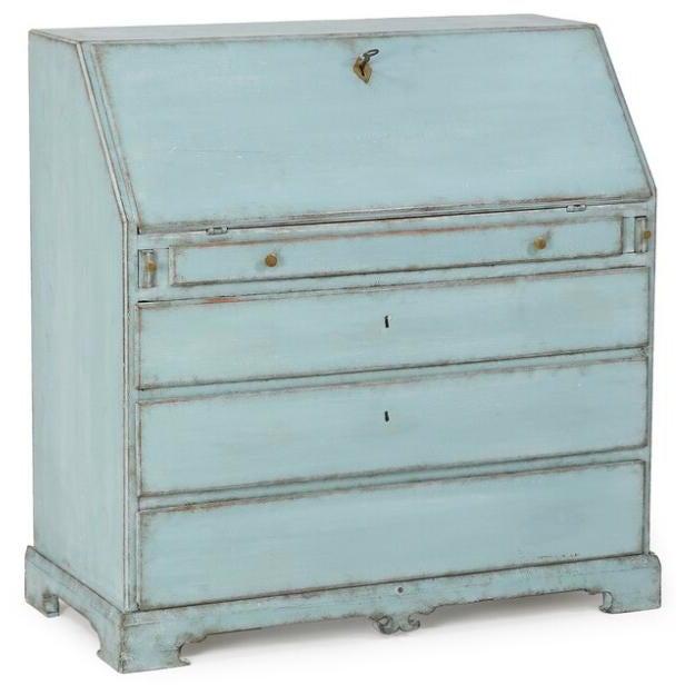 Empire Turquoise Empire Writing Bureau For Sale - Image 3 of 3