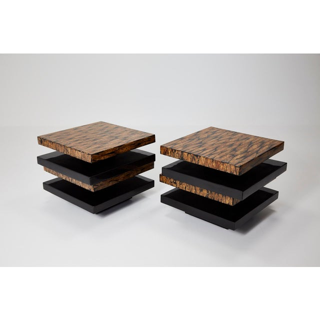 Maitland - Smith 1990s Contemporary Stacked 2-Part Coffee Table For Sale - Image 4 of 11