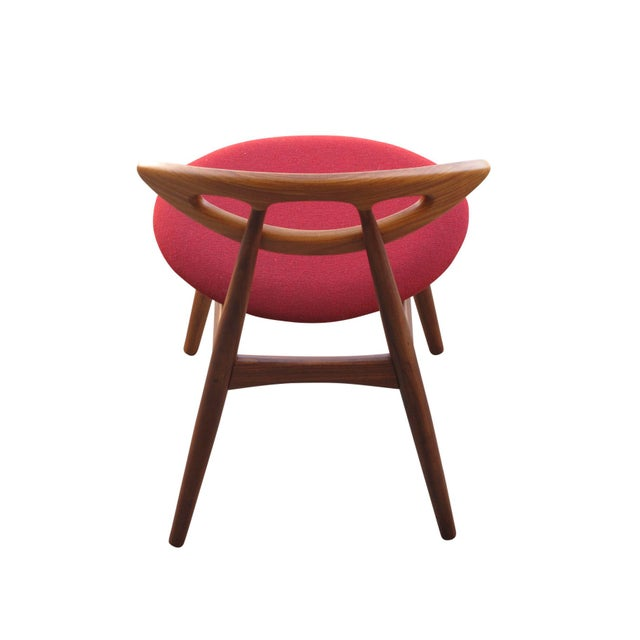 """Red 8 Ejvind A. Johansson Dining """"Eye"""" Chairs For Sale - Image 8 of 11"""