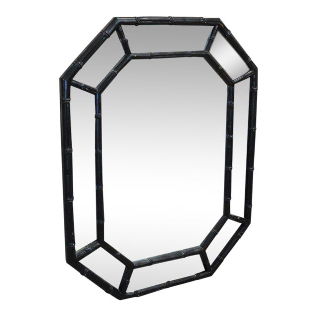 Faux Bamboo Octagon Mirror - Image 1 of 6