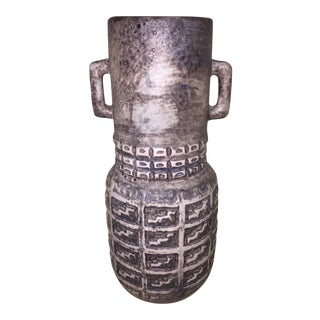 Tribal Pattern Volcanic, Lava Vase For Sale