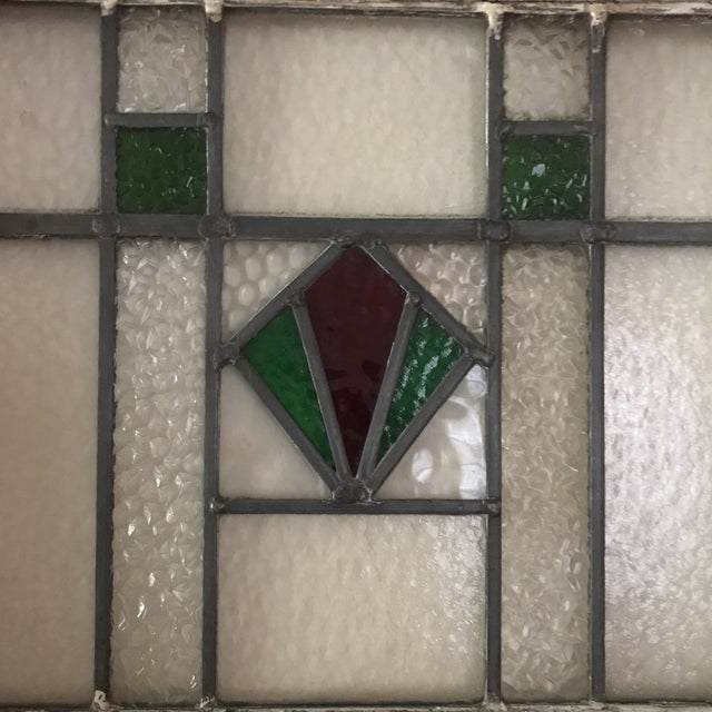 Antique Cottage Stained Glass Window - Image 4 of 9