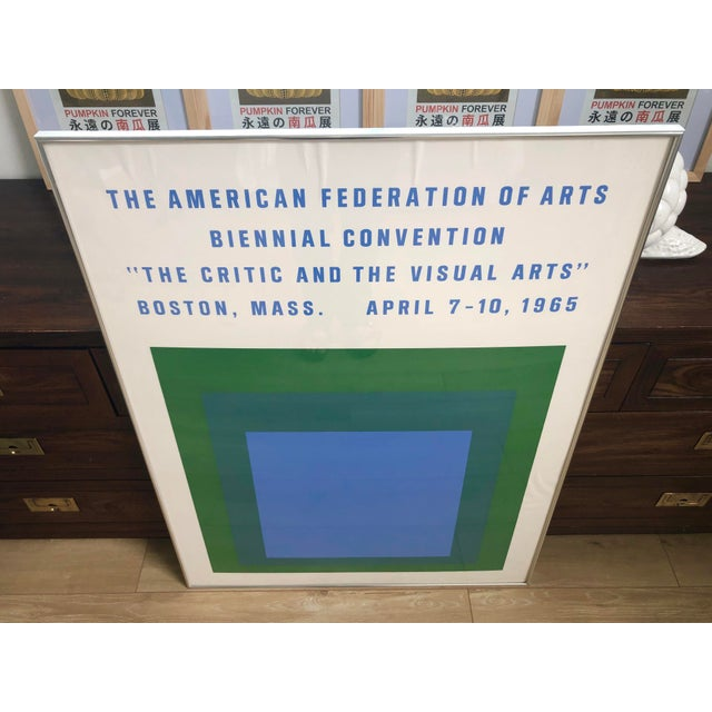 Abstract 1965 Vintage Josef Albers Homage to the Square American Federation of Arts Framed Poster For Sale - Image 3 of 11