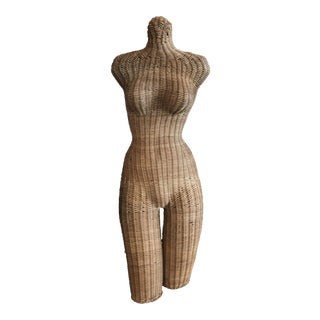 1960s Vintage Wicker Female Mannequin For Sale