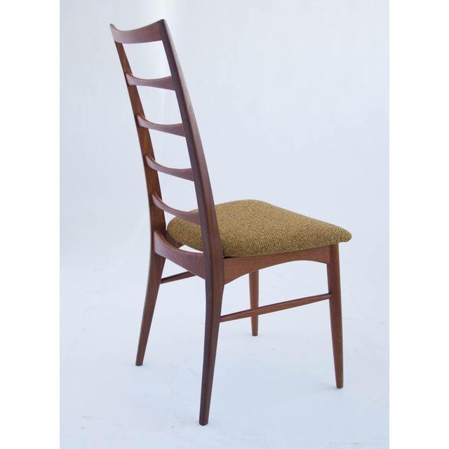Set of Koefoeds Hornslet Teak Ladder Back Dining Chairs For Sale In Los Angeles - Image 6 of 11