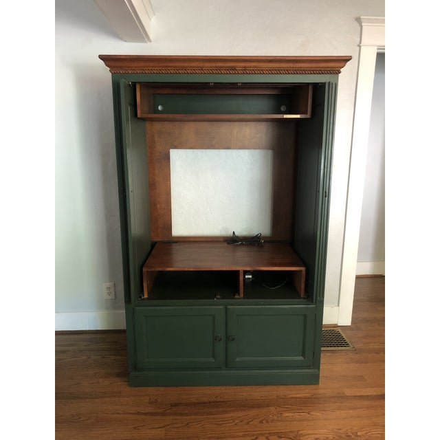 Metal Ethan Allen Country Crossings Tv Armoire For Sale - Image 7 of 12