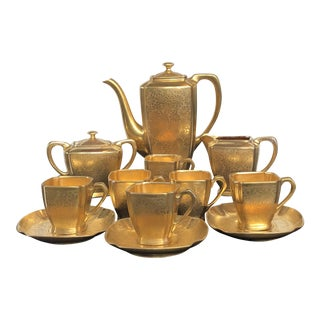Pockard 24k Gold Porcelain Tea Set