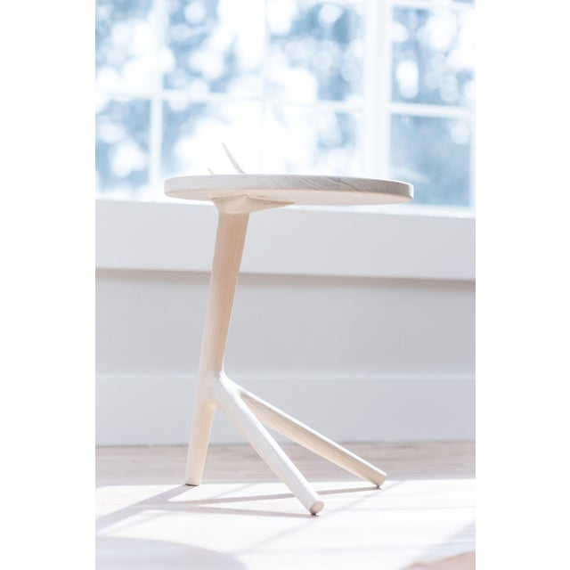 Wood White Ash Tripod Nesting End Tables - Set of 3 For Sale - Image 7 of 10
