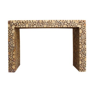 Chinese Distressed Cut Tree Trunk Console