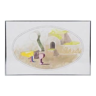 Fernando Maza Watercolor For Sale