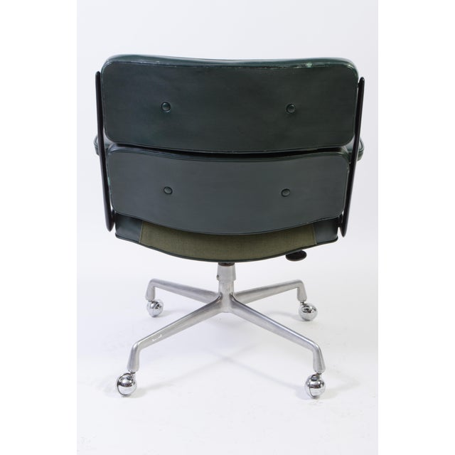 Eames Green Leather Time Life Chair for Herman Miller For Sale - Image 5 of 9