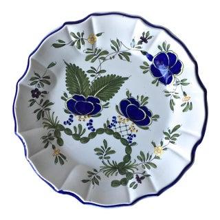 Italian Faience Hand-Painted Plate-Este Ceramiche