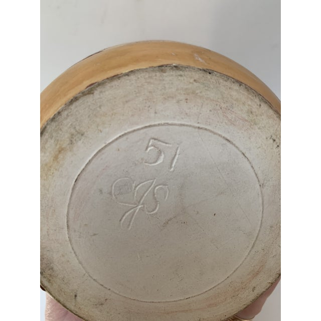 1950s 1951 Vintage Mid Century Modern Ceramic Weed Pot For Sale - Image 5 of 6