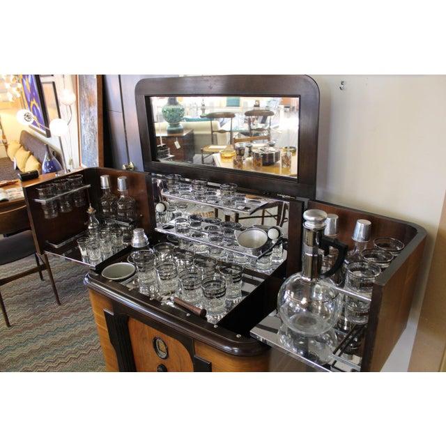 Mid-Century Modern Philco Bar & Radio Cabinet For Sale - Image 3 of 8