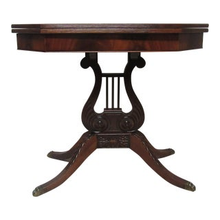 Flame Mahogany Console Game Table