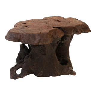 Vintage Tree Trunk Coffee Table For Sale