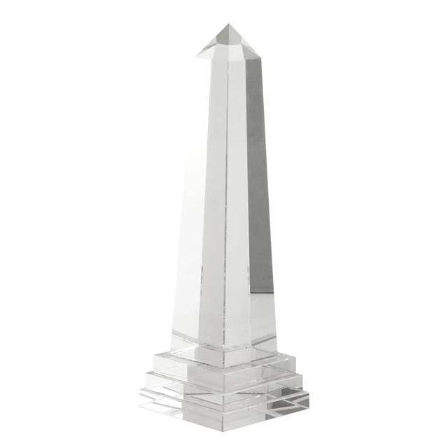 This classic, contemporary crystal glass obelisk from Eichholtz is an elegant decorative piece for your table, console or...