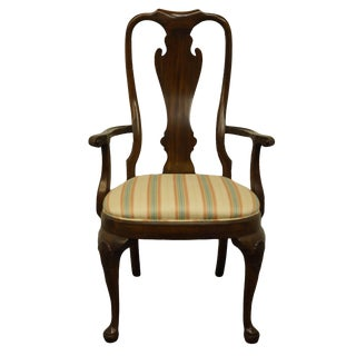 Drexel Heritage Cherry Chippendale Style Ball and Claw Dining Arm Chair For Sale