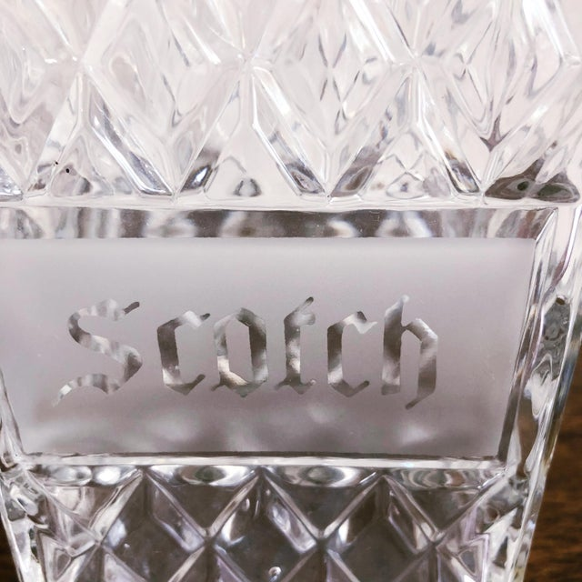 English Vintage Crystal Scotch and Rye Decanters For Sale - Image 3 of 8