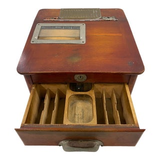 19th Century French Cash Register For Sale