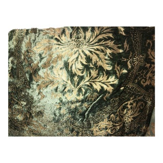 Fortuny Style Hand Stamped Velvet Fabric