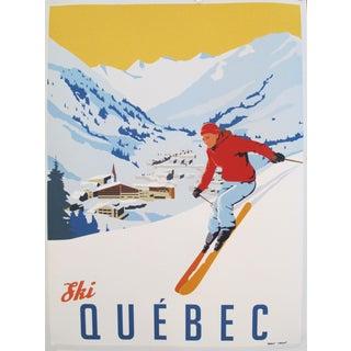 2019 Modern Retro Travel Poster - Ski Quebec (Smaller) For Sale
