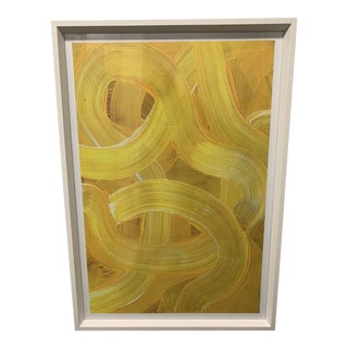 """Abstract """"Banana Swirl"""" Framed Painting by Soicher Marin For Sale"""