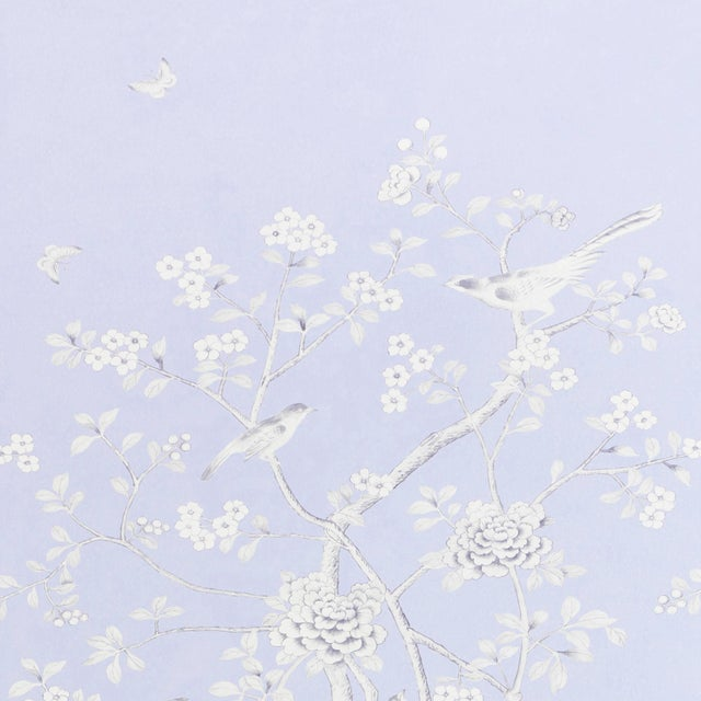 Asian Sample - Schumacher X Mary McDonald Chinois Palais Wallpaper in Lavender For Sale - Image 3 of 3