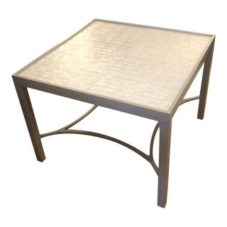 Abalone and Grey Painted Square Cocktail Table For Sale