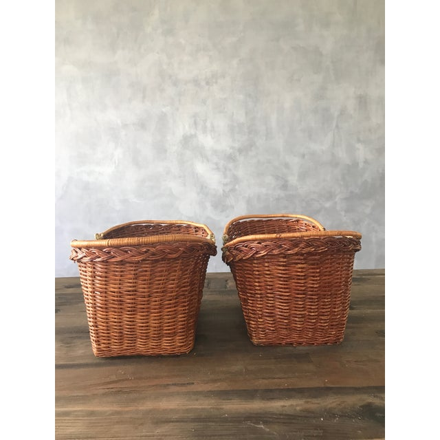 Rattan Carrying Baskets - A Pair - Image 6 of 7