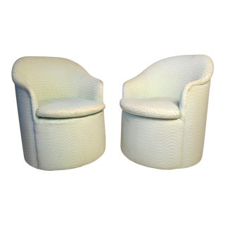 Vintage Modern Rolling Club Chairs by Directional - a Pair For Sale