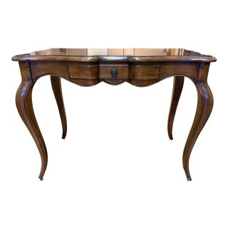 Milling Road Scrolled French Writing Desk + Drawer For Sale