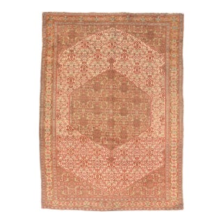 Antique Rust Senneh Persian Area Rug For Sale