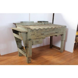 Antique Printer's Working Wood Table/Desk Preview