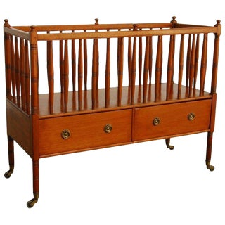 19th Century English Regency Style Mahogany Canterbury For Sale