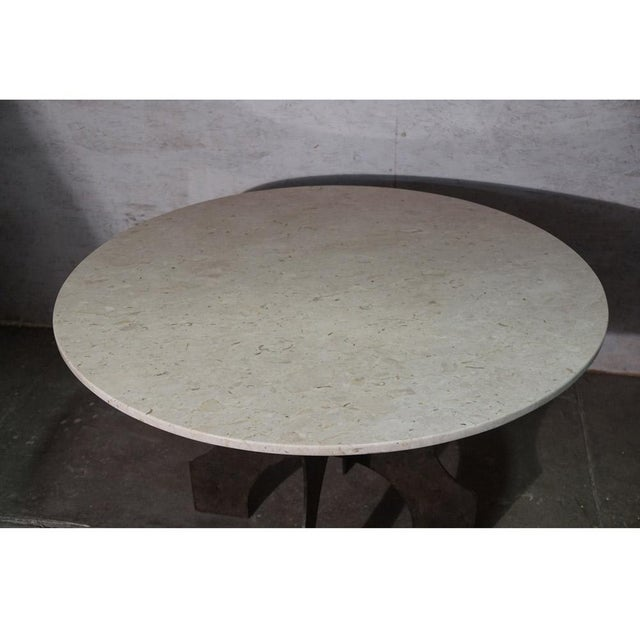 2000 - 2009 Iron X-Base Dining Table For Sale - Image 5 of 7