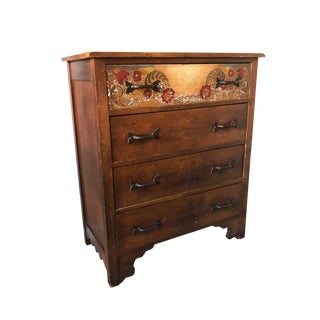 Antique Monterey Rancho Folk Art Chest of Drawers For Sale