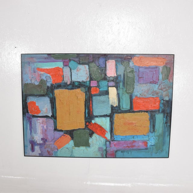 Modern Abstract Oil on Canvas, Signed 1994 For Sale In San Diego - Image 6 of 11