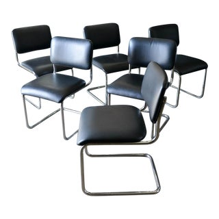 1980s Vintage Marcel Breuer Cesca Dining Chairs- Set of 6 For Sale