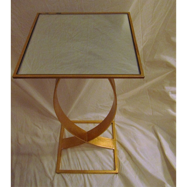 Square Mirror Topped Mid-Century Modern Side Table - Image 3 of 4