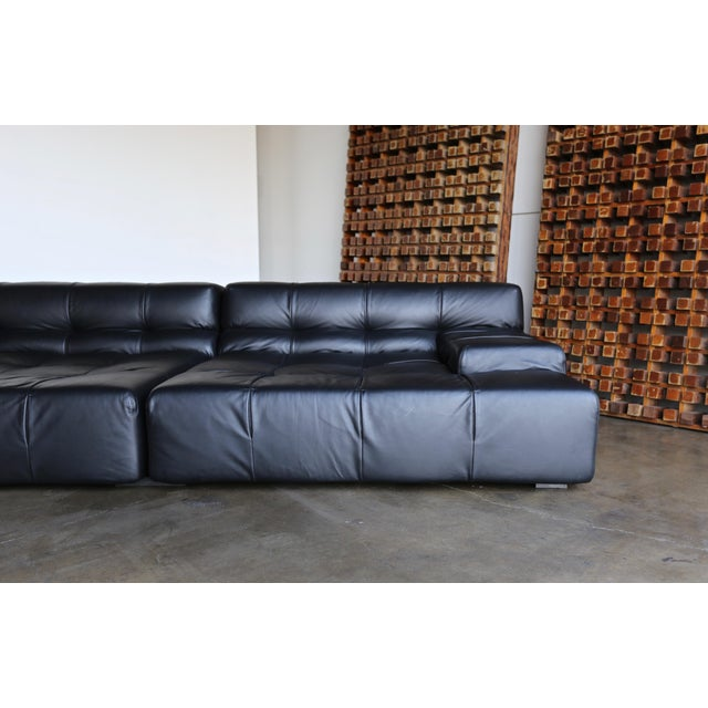 B&B Italia B&b Italia Tufty Time Leather Sofa by Patricia Urquiola For Sale - Image 4 of 10